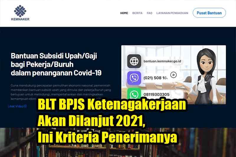 BLT BPJS Ketenagakerjaan Akan Dilanjut 2021, Ini Kriteria Penerimanya