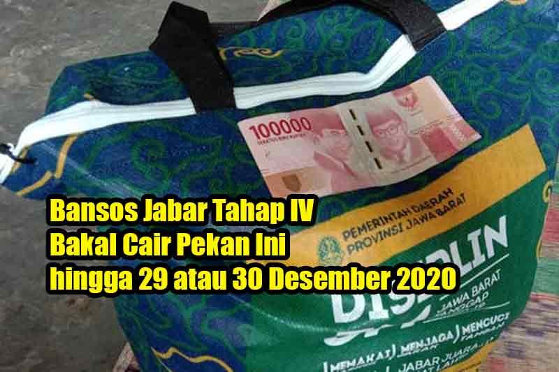 Bansos Jabar Tahap IV Bakal Cair Pekan Ini hingga 29 atau 30 Desember 2020
