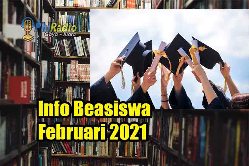 Info Beasiswa Februari 2021