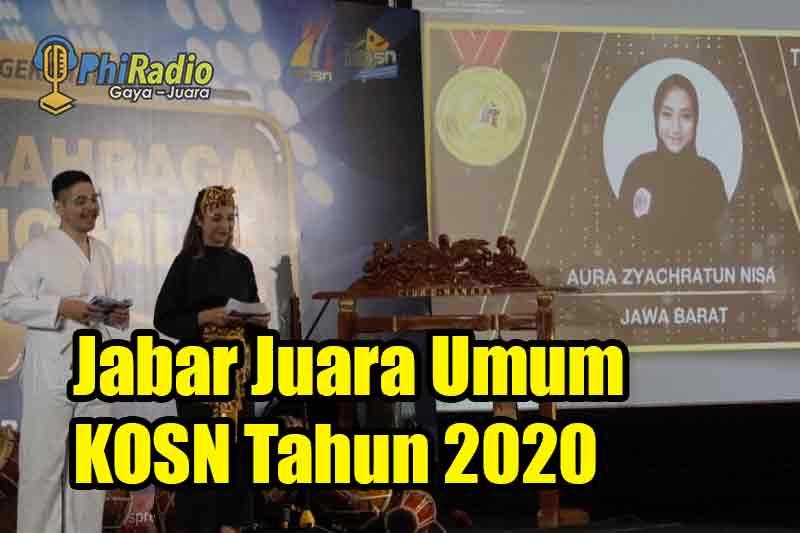 Jabar Juara Umum KOSN Tahun 2020