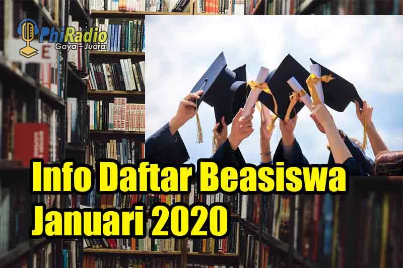 Daftar Beasiswa Bulan Januari 2021