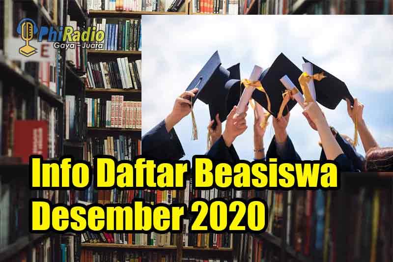 beasiswa desember 2020, info beasiswa desember 2020, daftar beasiswa desember 2020