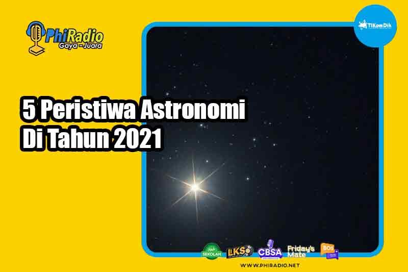 5 Peristiwa Astronomi Di Tahun 2021
