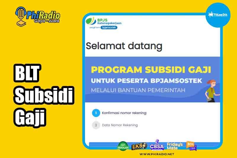 Cek Penerima BLT Gaji Rp 1 Juta Link Resmi bsu.bpjsketenagakerjaan.go.id dan kemnaker.go.id