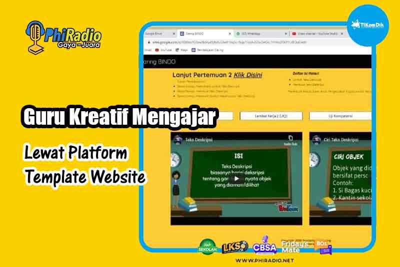Guru Kreatif Mengajar Lewat Platform Template Website