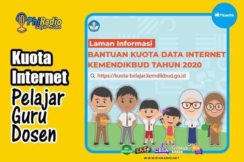Kemendikbud Bagikan Kuota Data Internet Gratis hingga 50GB untuk Pelajar, Mahasiswa, Guru, dan Dosen