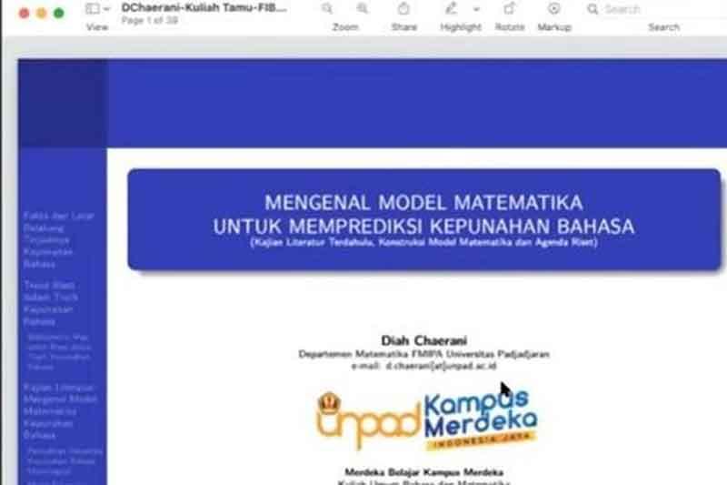 Matematika Untuk Memprediksi Kepunahan Bahasa
