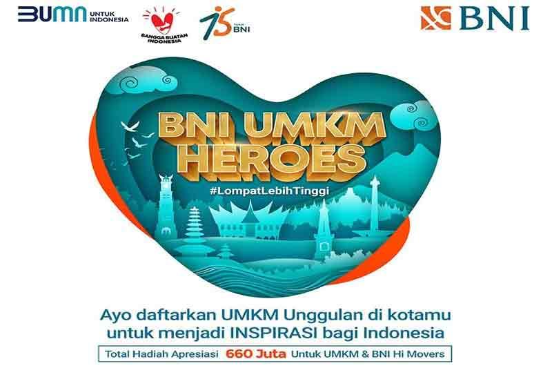 Daftar UMKM Heroes BNI, Ditutup 5 Juni 2021