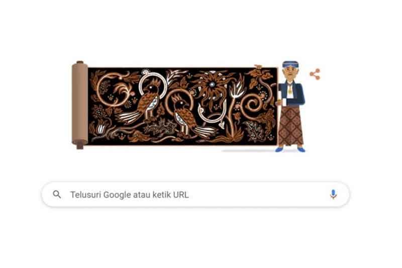 Google Doodle Hari Ini : Ulang Tahun Sang Pelopor Batik Go Tik Swan, Sang Pelopor Batik