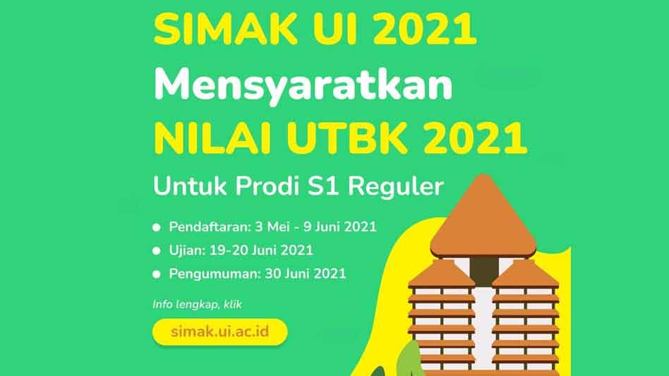 Jadwal dan Daftar SIMAK UI 2021