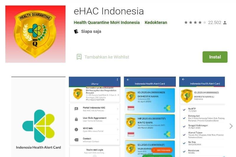 Adanya Kebocoran Pada Aplikasi eHAC, KEMENKES Hapus Aplikasi eHAC