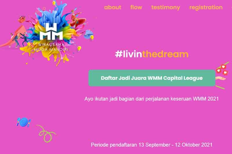 Daftar Kompetisi Wirausaha Muda Mandiri di www.wirausahamandiri.co.id 13 September-12 Oktober 2021