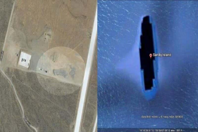 tempat paling misterius di google maps